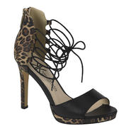 Kardashian Kollection Women's Dress Pump Idalia - Black/Animal at Sears.com