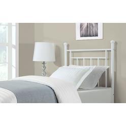 dorel home furnishings twin white metal headboard