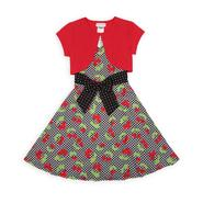 Ashley Ann Girl's Dress & Short-Sleeve Shrug - Cherry Print at Sears.com
