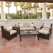 RST Outdoor Slate™ 6-Piece Love Seat and Club Chairs Set at Kmart.com
