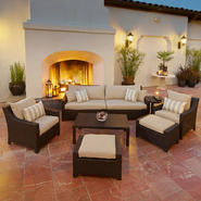 RST Outdoor Slate™ 8-Piece Sofa, Club Chair and Ottomans Set at Kmart.com