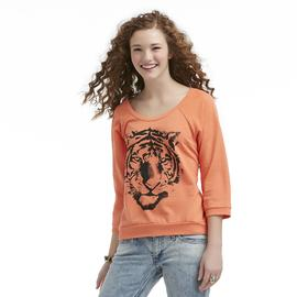 Joe by Joe Boxer Junior's Lace Back Three-Quarter Sleeve Top - Tiger at Sears.com
