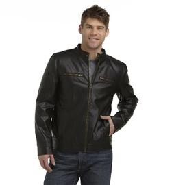 Route 66 Men's Zip-Up Faux Leather Jacket at Kmart.com