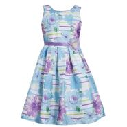 Ashley Ann Girl's Sleeveless Party Dress - Floral Striped at Sears.com