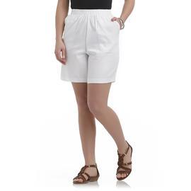 Laura Scott Women's Elastic-Waist Twill Shorts at Sears.com