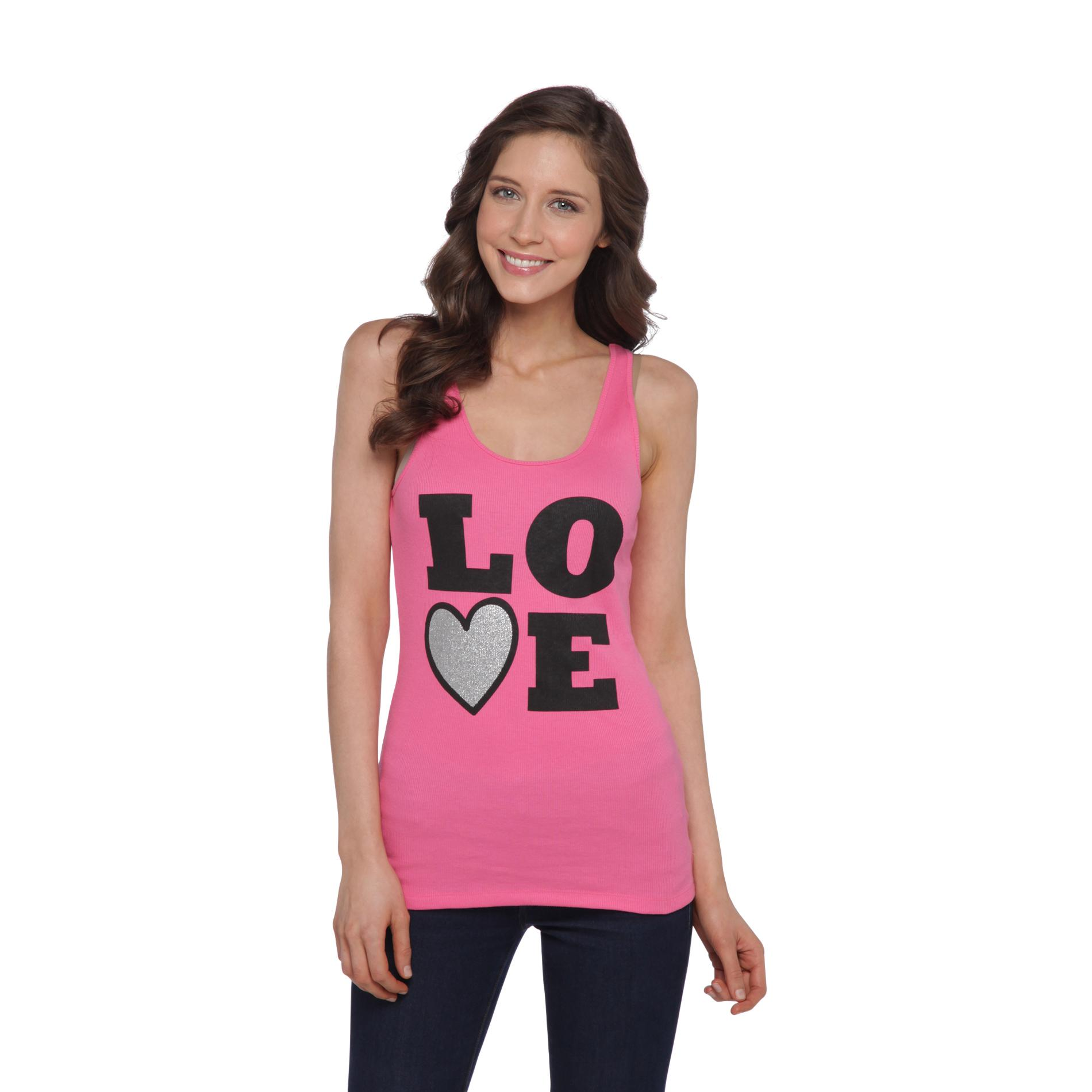 Joe by Joe Boxer Women's Rib Knit Tank Top - Love at Sears.com