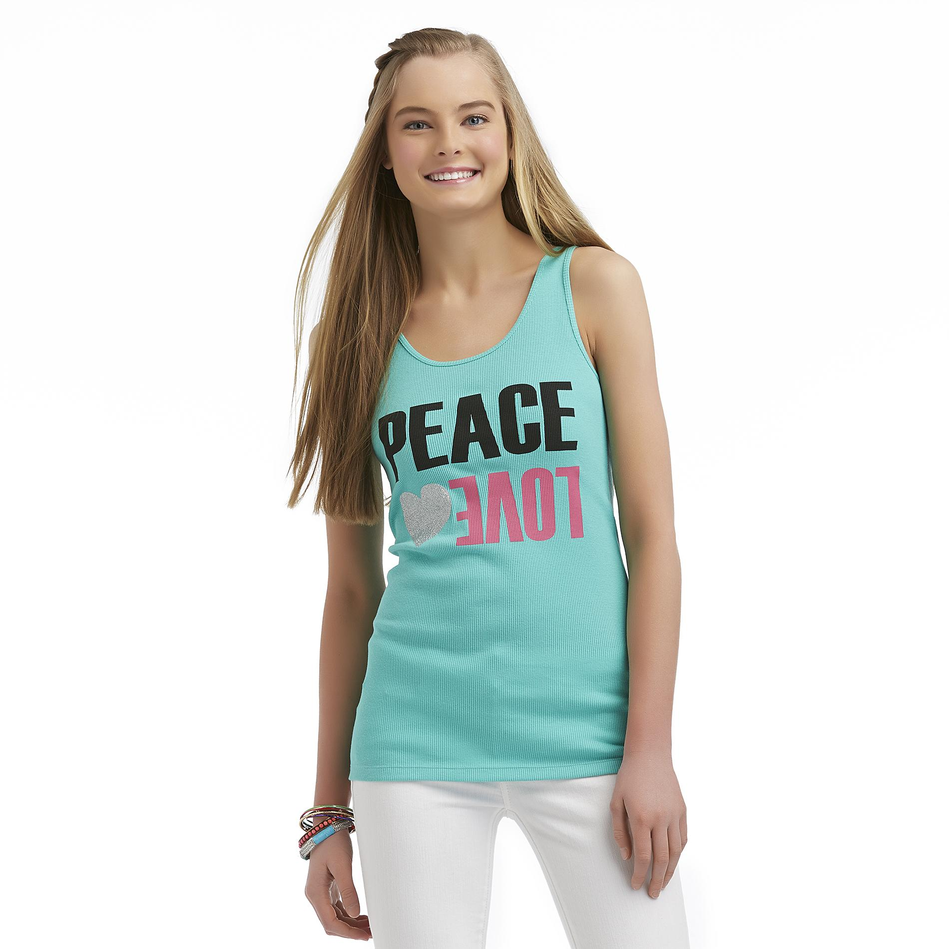 Joe by Joe Boxer Women's Graphic Tank Top - Peace & Love at Sears.com