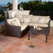 RST Outdoor Slate™ 9-Piece Corner Sectional Sofa and Club Chairs Set at Kmart.com