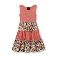 Girls Rule Girl's Tiered Tank Dress - Mixed Print at Sears.com
