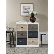 Altra Mercer White 6-Door Storage Cabinet with Multicolored Door Fronts at Kmart.com