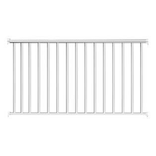 Contractor Building Products Aluminum Contractor Handrail 8 ft. Commercial, 42 in. Tall - White