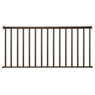 Contractor Building Products Aluminum Contractor Handrail 8 ft. Residential, 36 in. Tall - Bronze