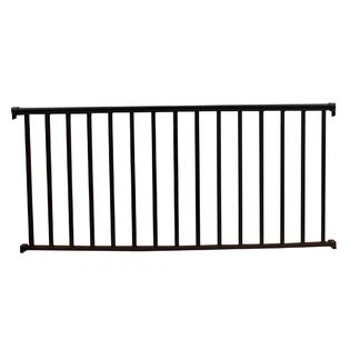 Contractor Building Products Aluminum Contractor Handrail 8 ft. Commercial, 42 in. Tall - Tex. Black