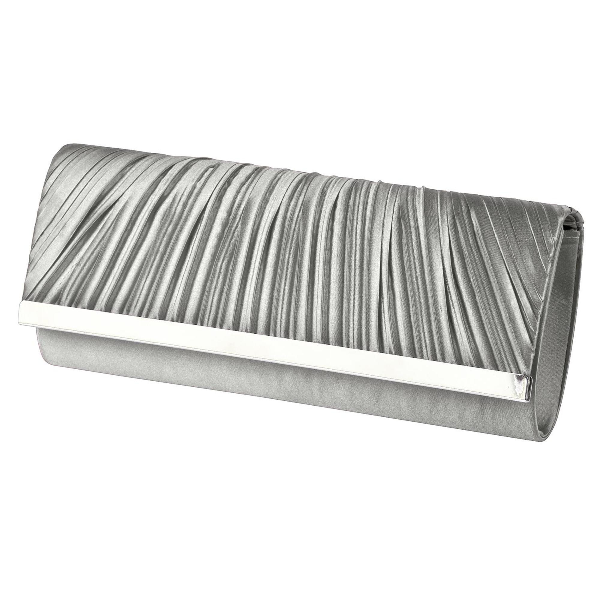 Women's Pleated Bar Clutch