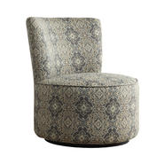Oxford Creek Blake Blue Damask Swivel Accent Chair at Kmart.com