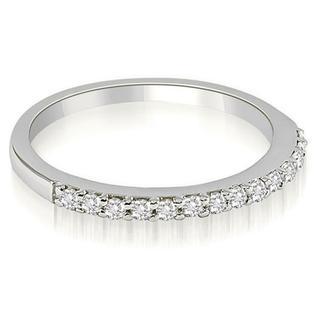 AMCOR 18K White Gold 0.21 cttw Classic Round Cut Diamond Wedding Band (I1, H-I)