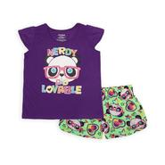 Joe Boxer Girl's Graphic Pajama Top & Shorts - Pandas, Hearts & Stars at Kmart.com