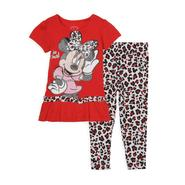 Disney Baby Infant & Toddler Girl's Tunic Top & Leggings - Minnie Mouse at Kmart.com