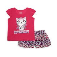 Joe Boxer Girl's Graphic Pajama Top & Shorts - Kitty Cat at Kmart.com