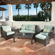 RST Outdoor Bliss™ 6-Piece Love Seat and Club Chairs Set at Kmart.com