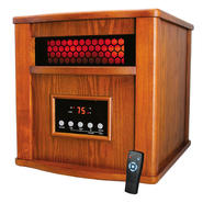 Hiland Indoor.Outdoor Electric Space Heater with Remote - Dark Oak at Sears.com
