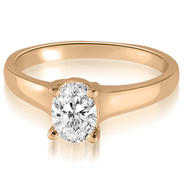 AMCOR 14K Rose Gold 0.35 cttw Classic Lucida Oval Cut Diamond Engagement Ring (I1, H-I) at Kmart.com
