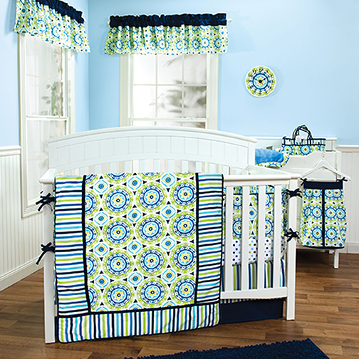 Trend Lab WAVERLY® Solar Flair - 3 Piece Crib Bedding Set