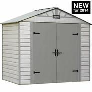 Craftsman 8-ft. x 5-ft. Vinyl-Coated Steel Shed - CVCS85 - Exclusive VersaTrack™ Compatibility at Sears.com
