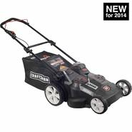 "Craftsman 40-Volt Li-Ion Dual Battery, Dual Blade, 20"" 2-in-1 Cordless Push Lawn Mower at Craftsman.com"
