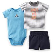 Carter's Newborn & Infant Boy's Bodysuit, T-Shirt & Shorts - Monkey at Sears.com