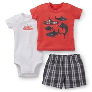 Carter's Newborn & Infant Boy's Bodysuit, T-Shirt & Shorts - Nautical at Sears.com