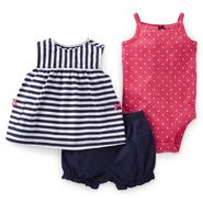 Carter's Newborn & Infant Girl's Dress, Bodysuit & Diaper Cover - Striped at Sears.com