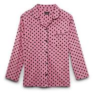 Joe Boxer Women's Plus Flannel Pajama Top & Pants - Polka Dots at Kmart.com