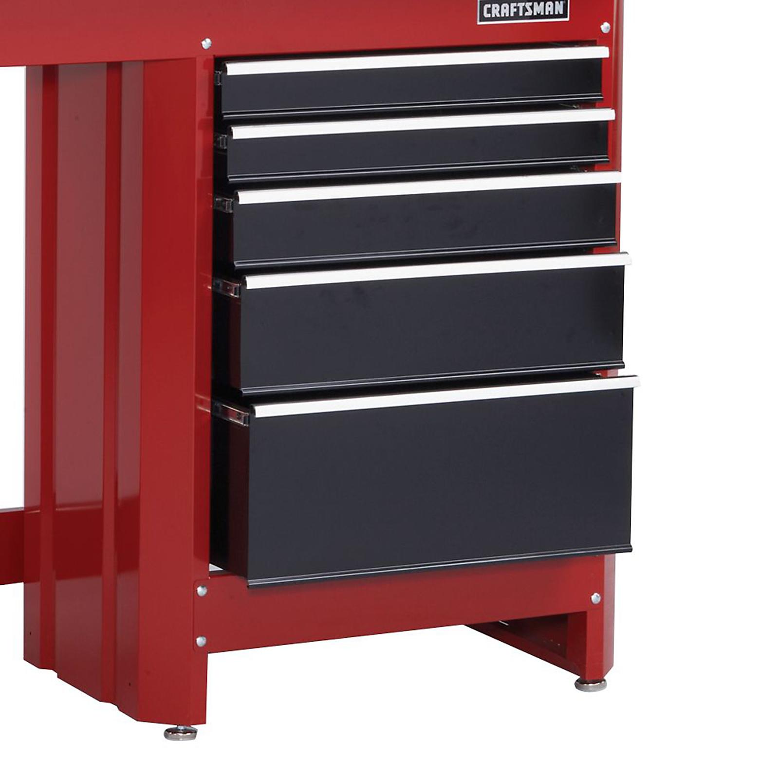 Craftsman 5 Drawer Workbench Module Red Black Shop