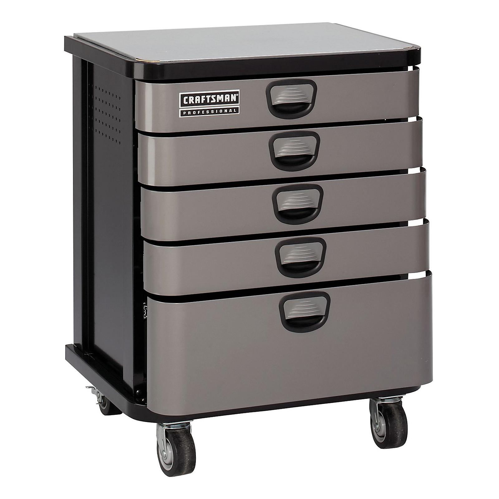 Craftsman Professional 5-Drawer Mobile Cabinet - Platinum
