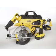 DeWalt 18 V Four Tool (Drill-Driver/Recip/Circular Saw/Floodlight) Combo at Sears.com