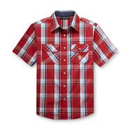 U.S. Polo Assn. Boy's Short-Sleeve Button Front Shirt - Plaid at Sears.com