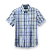 U.S. Polo Assn. Boy's Short-Sleeve Woven Shirt - Plaid at Sears.com