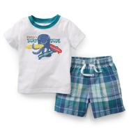 Carter's Newborn & Infant Boy's Graphic T-Shirt & Shorts - Surf Octopus at Sears.com