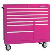 "The Original Pink Box 41"" 9 Drawer 18G Steel Rolling Cabinet at Kmart.com"