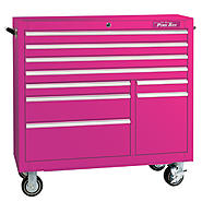 "The Original Pink Box 41"" 9 Drawer 18G Steel Rolling Cabinet at Sears.com"