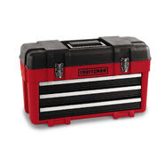 Craftsman 3-Drawer Plastic/Metal Portable Chest - Red/Black at Sears.com