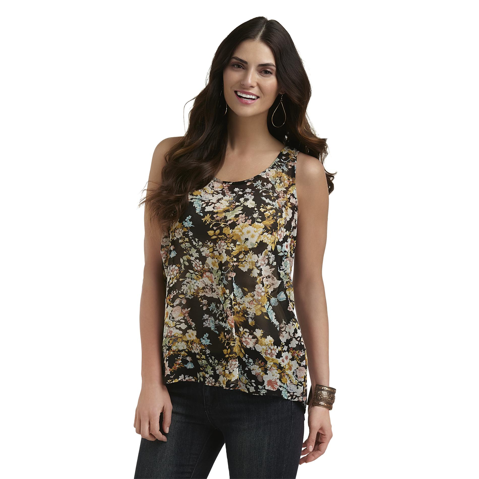 Metaphor Women's High-Low Tank Top - Floral at Sears.com