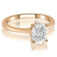 AMCOR 0.45 Cttw Oval-Cut 14K Rose Gold Diamond Engagement Ring at Kmart.com