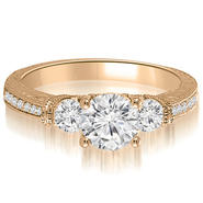 AMCOR 14K Rose Gold 0.61 cttw. Antique Three-Stone Round Diamond Engagement Ring (I1, H-I) at Kmart.com