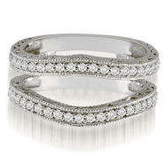 AMCOR 18K White Gold 0.42 cttw. Antique Round Cut Diamond Enhancer Guard Wedding Ring (I1, H-I) at Sears.com