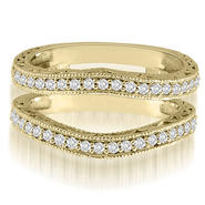 AMCOR 18K Yellow Gold 0.42 cttw. Antique Round Cut Diamond Enhancer Guard Wedding Ring (I1, H-I) at Sears.com