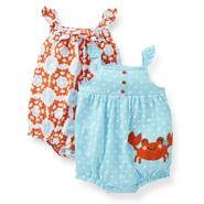 Carter's Newborn & Infant Girl's 2-Pack Rompers - Crab at Sears.com