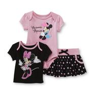 Disney Baby Minnie Mouse Newborn & Infant Girl's T-Shirt, Skirt & Bodysuit at Sears.com
