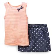 Carter's Newborn & Infant  Girl's Tank Top & Scooter Skirt - Striped & Polka Dots at Sears.com